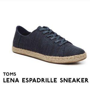 NWOT Toms Lena Espadrille Sneaker